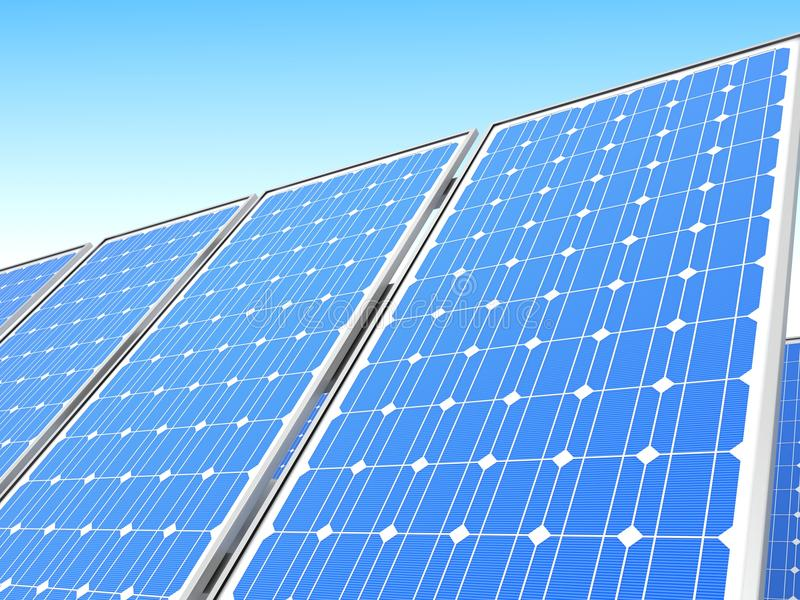 Download Solar panel stock illustration. Image of power, battery - 26859008
