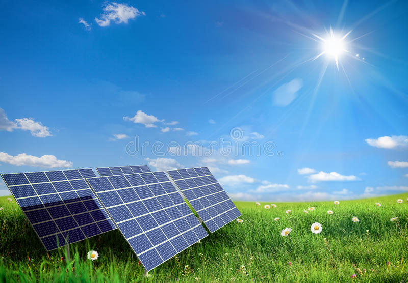 Solar panel stock images
