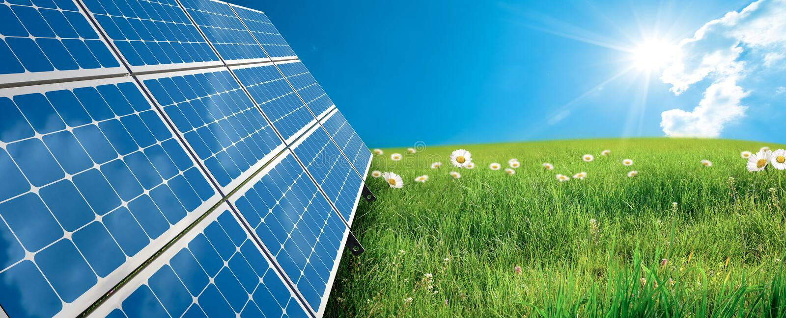 Solar panel stock photos