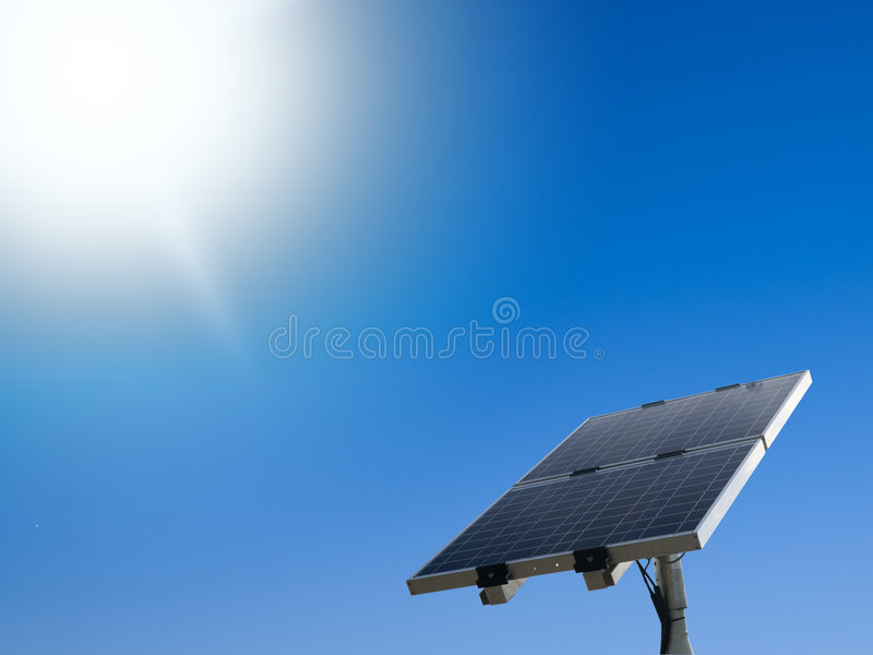 Solar panel. Energy photovoltaic cell royalty free stock images