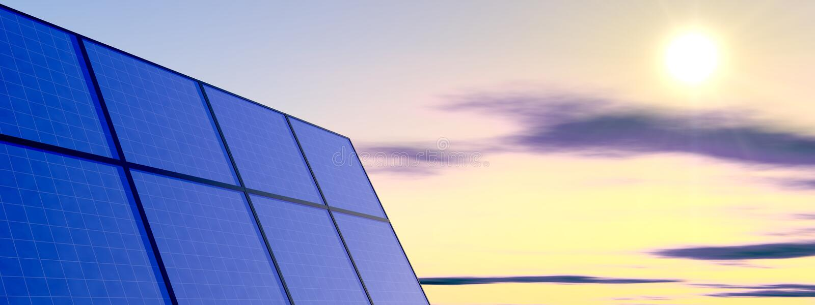 Download Solar Panel stock illustration. Image of photons, clear - 7164524