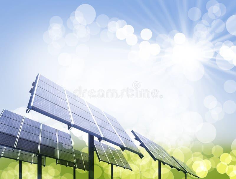 Download Solar Panel Against Blue Sky Stock Illustration - Image: 11584482