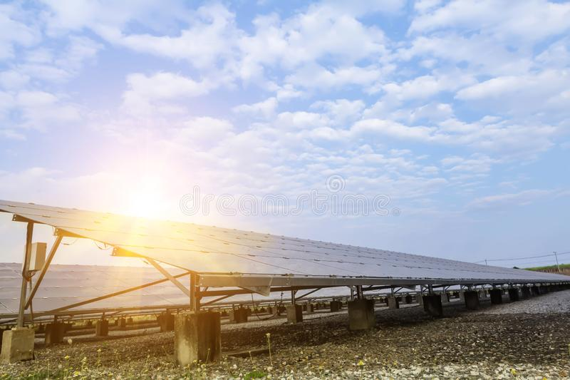 Solar panel, alternative electricity source - concept of sustainable resources, And this is the solar panel mono type stock image