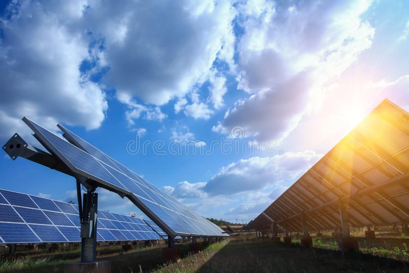 Solar panel, alternative electricity source - concept of sustainable resources, And this is a new system that can generate royalty free stock photography