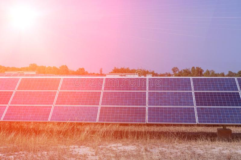 Solar panel, alternative electricity source - concept of sustainable resources, And this is a new system that can generate royalty free stock photos
