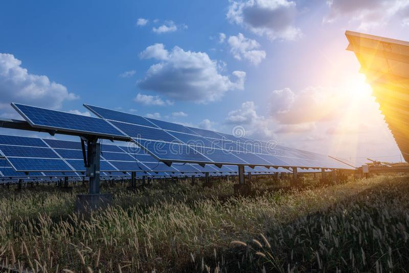 Solar panel, alternative electricity source - concept of sustainable resources, And this is a new system that can generate royalty free stock images