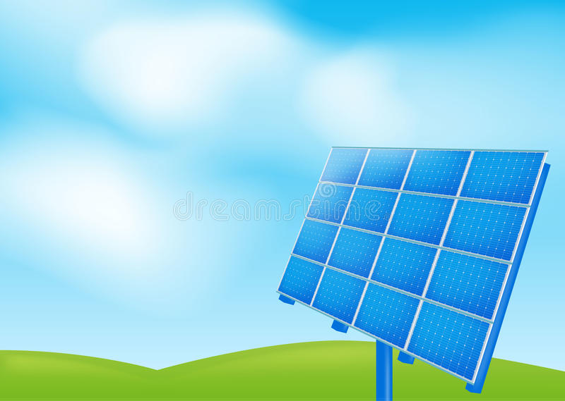 Download Solar panel on a blue sky stock vector. Illustration of economy - 27920972