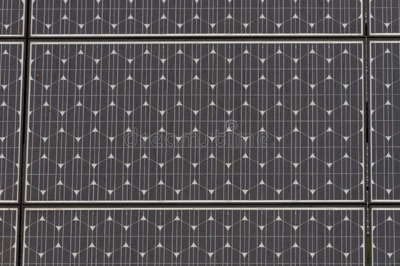 Solar Panel Close Up With Raindrops Royalty Free Stock Photos