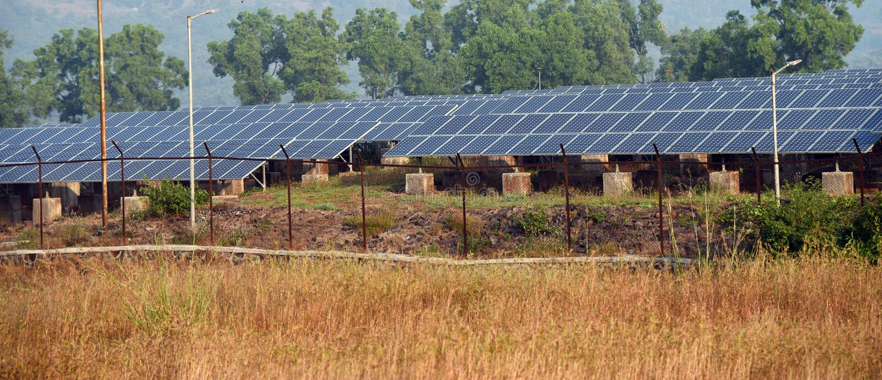Solar panel field royalty free stock photos