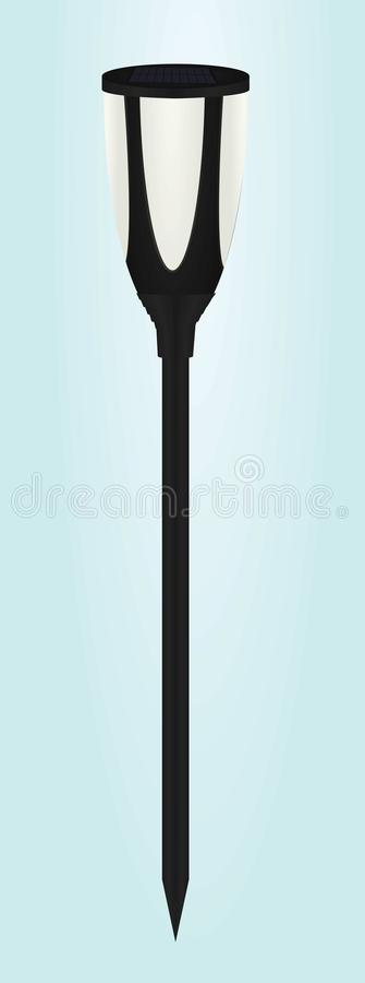 Solar panel garden light royalty free illustration