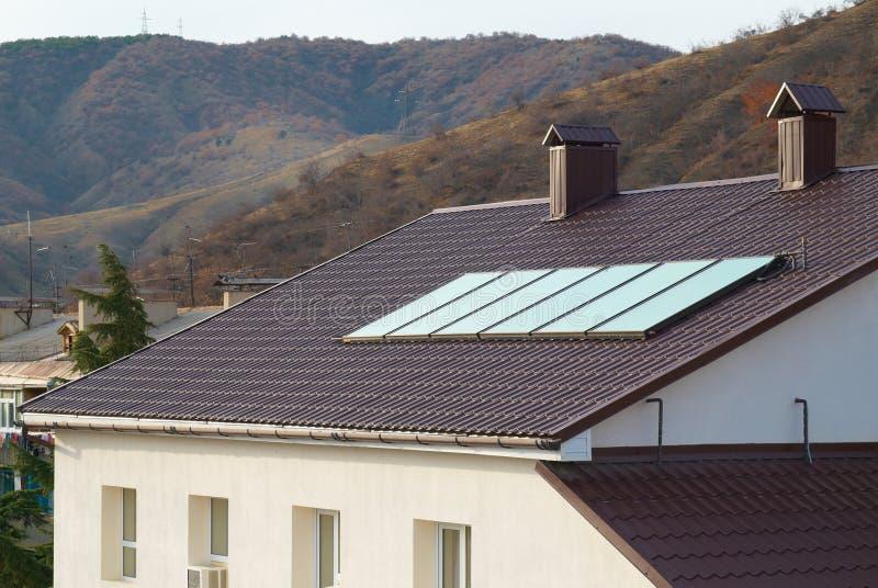 Solar panel (geliosystem) stock photography