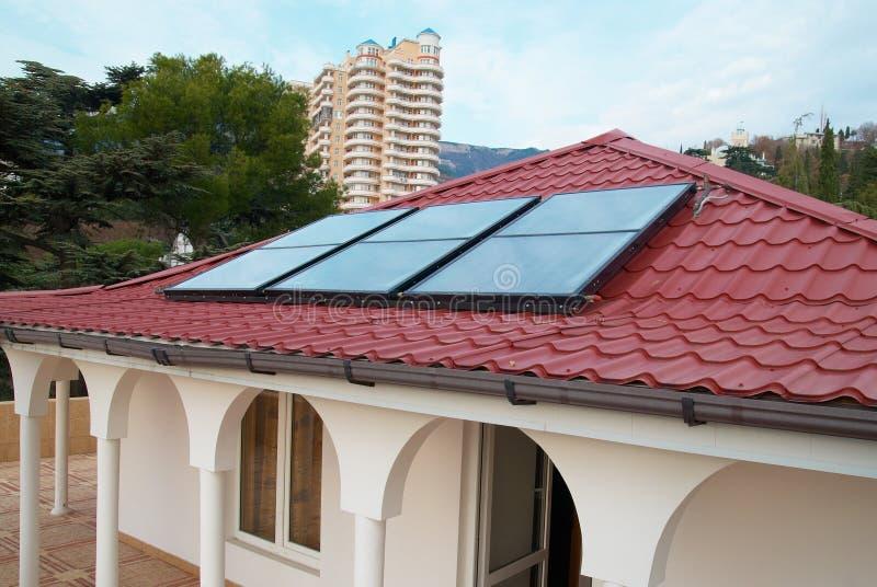 Solar panel (geliosystem) stock photo