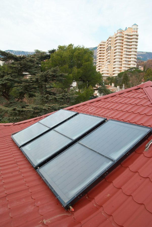 Solar panel (geliosystem) royalty free stock photography