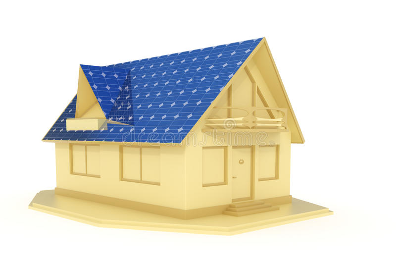 Download Solar panel house 3 stock illustration. Illustration of rendered - 15229302