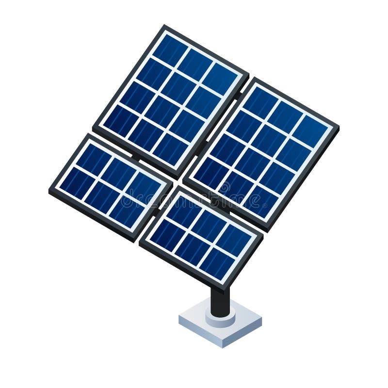 Solar panel icon, isometric style. Solar panel icon. Isometric of solar panel vector icon for web design isolated on white background royalty free illustration
