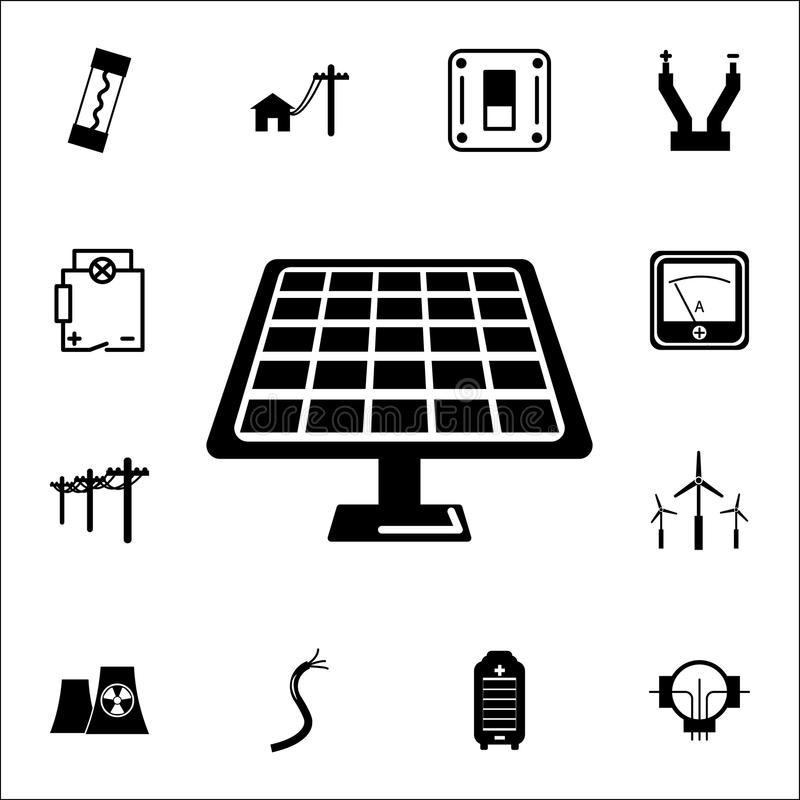 Solar panel icon. Set of energy icons. Premium quality graphic design icons. Signs and symbols collection icons for websites, web royalty free illustration