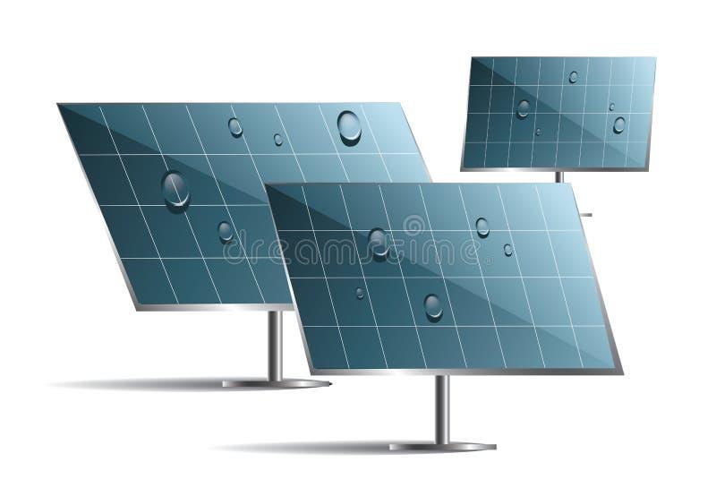 Solar panels vector illustration