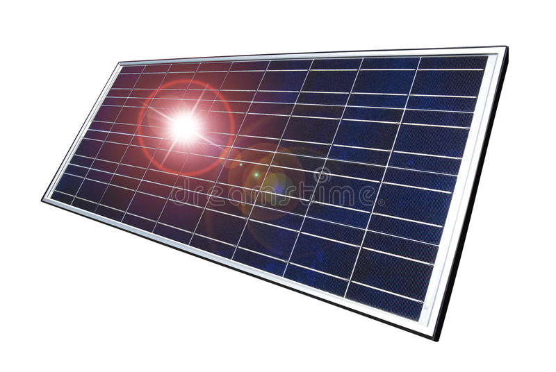 Solar panel, isolated stock photography