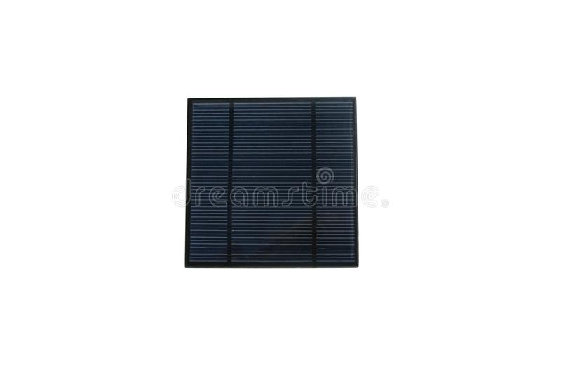 Modern solar panel isolated on white, an alternative energy source royalty free stock photography