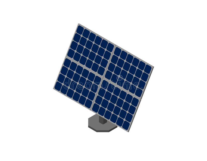 Solar panel. Isolated on white background. 3d Vector illustration. Isometric projection vector illustration