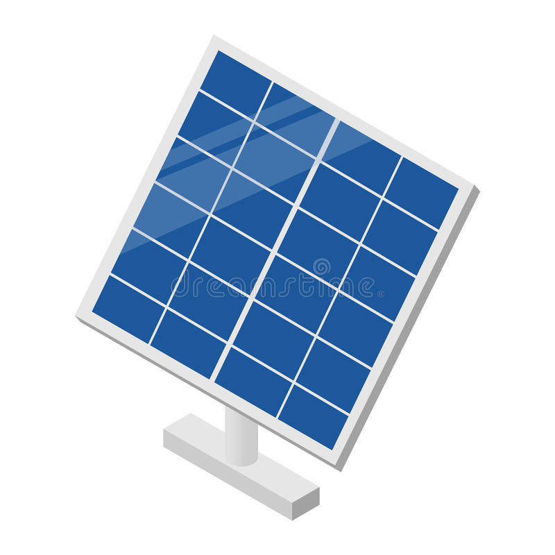 Solar panel isometric 3d icon. For web and mobile devices royalty free illustration