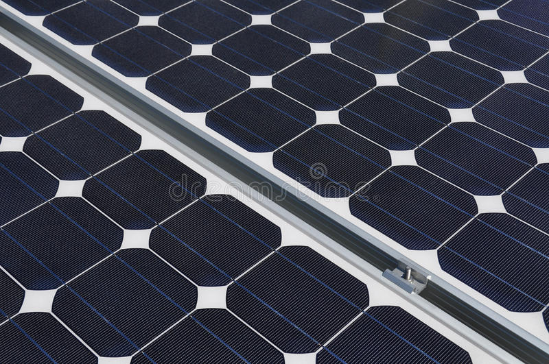 Download Solar Panel And Joining Clamp Fixings Stock Photo - Image: 11369824