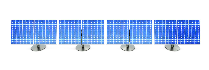 Solar Panel line royalty free illustration