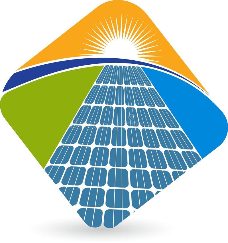 Solar panel logo vector illustration