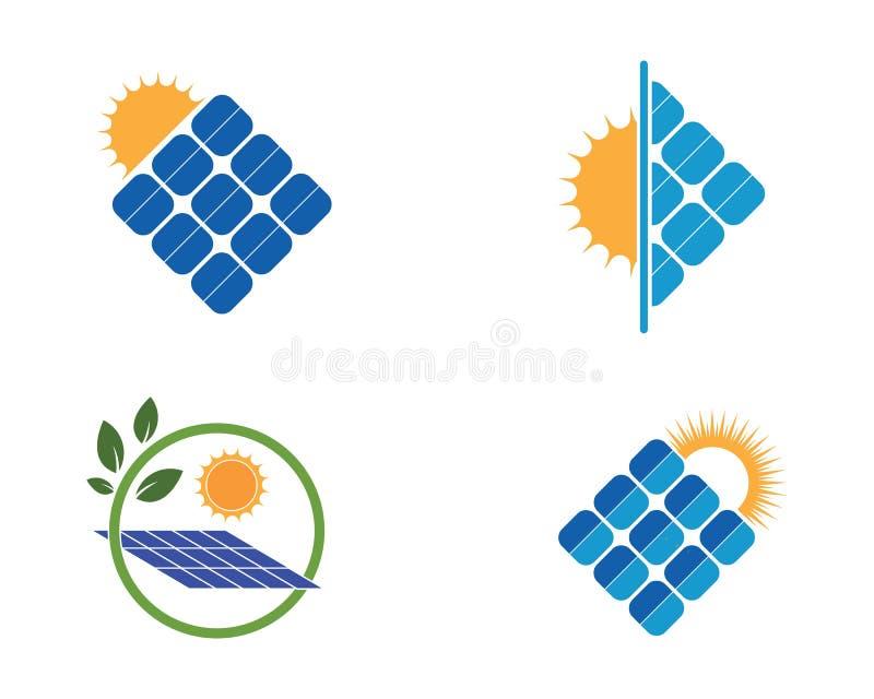Solar panel logo vector icon. Of natural energy stock illustration