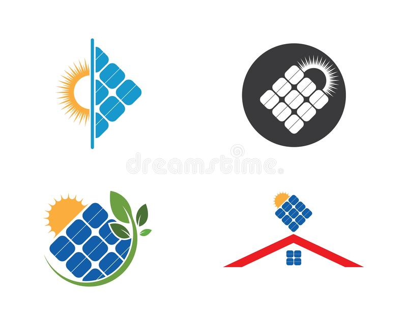 Solar panel logo vector icon. Of natural energy vector illustration