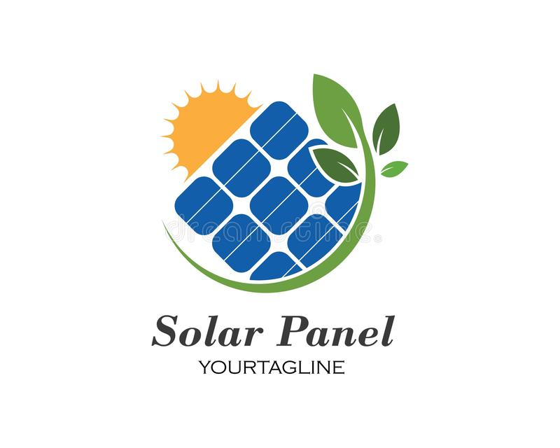 Solar panel logo vector icon. Of natural energy royalty free illustration