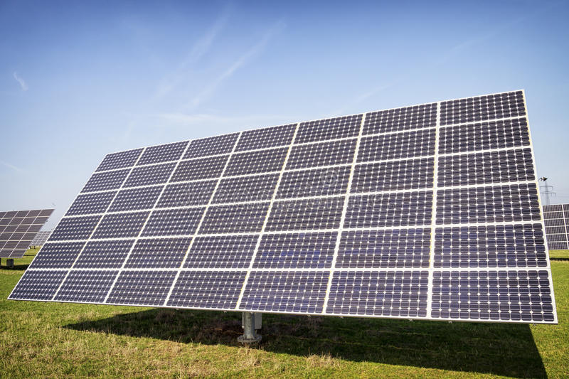 Download Solar panel stock photo. Image of horizontal, copy, pole - 35128420