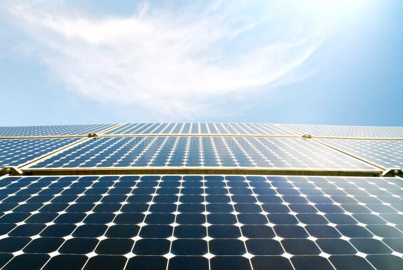 Solar panel modules in the sun royalty free stock photos