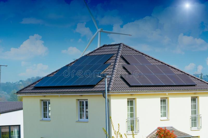 Solar panel, photovoltaic, alternative power source stock images