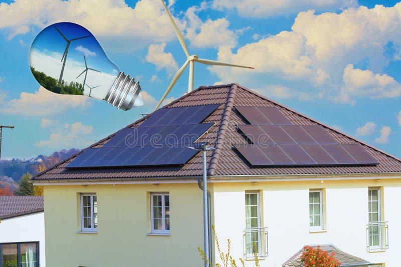 Solar panel, photovoltaic, alternative power source stock photos