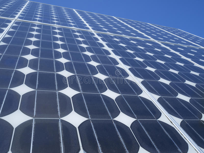 Solar panel photovoltaic cells blue sky royalty free stock images