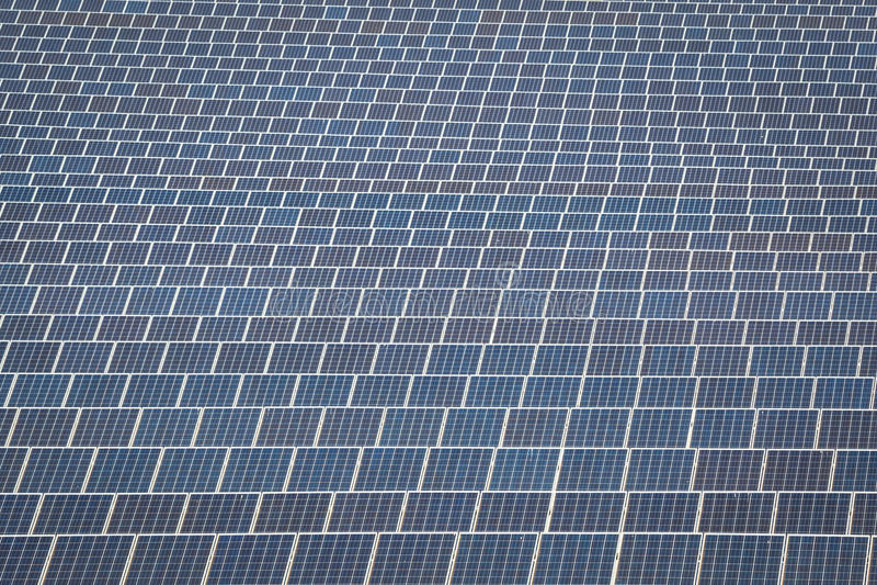 Solar panel produces green, environmentally friendly energy from stock photos