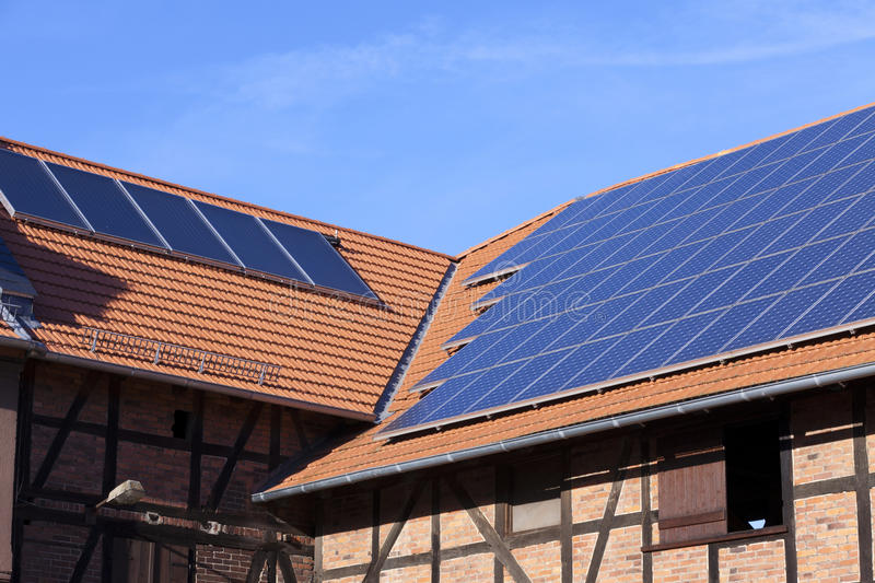 Download Solar panel on roof stock photo. Image of house, residential - 38605128