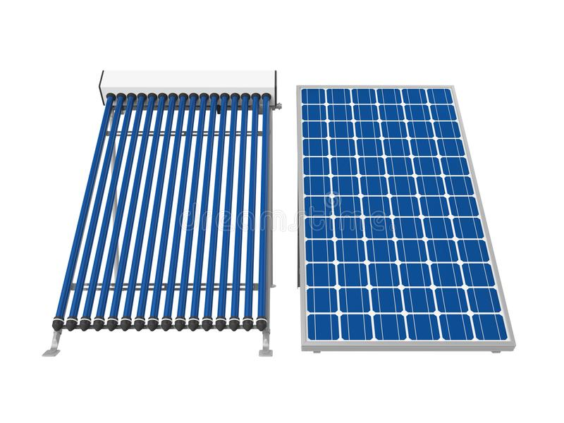 Download Solar Panel And Solar Heat Pipe Collector Stock Illustration - Illustration of generation boiler  sc 1 st  Dreamstime.com & Solar Panel And Solar Heat Pipe Collector Stock Illustration ...