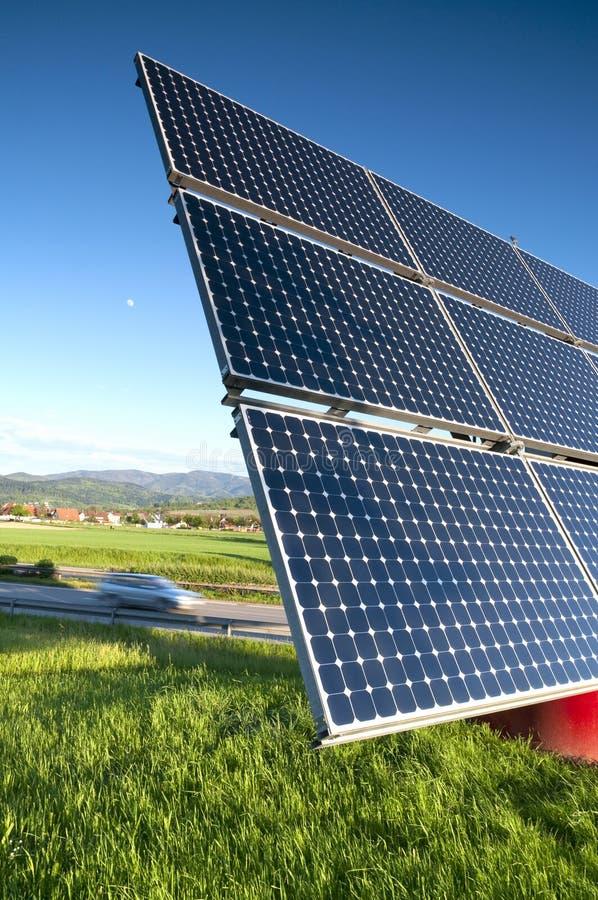 Solar Panel Station stock photos