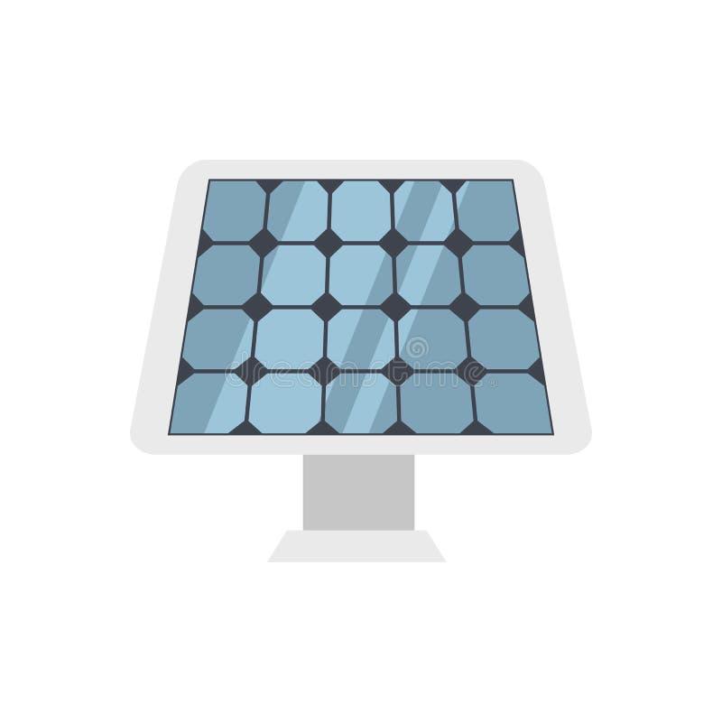 Solar Panel Vector Icon. stock illustration