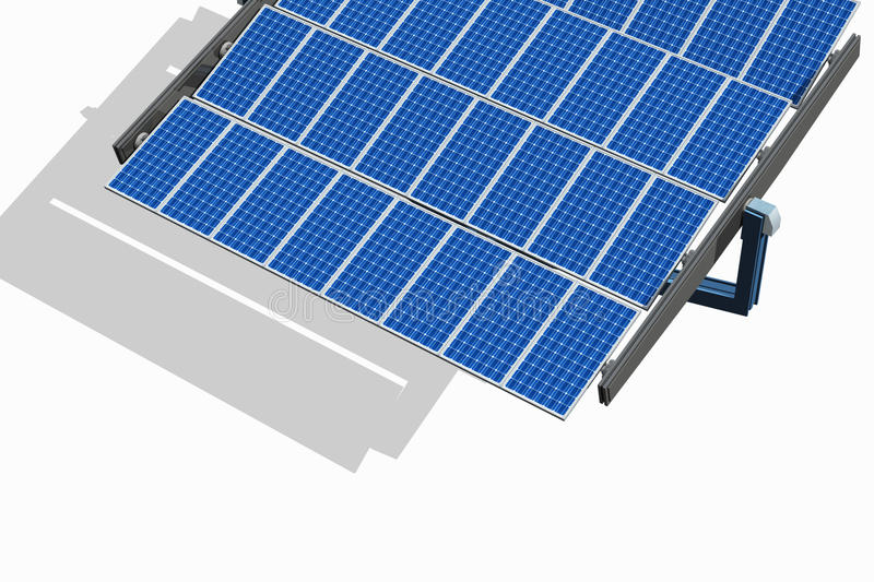 Download Solar Panel on White stock illustration. Image of shadow - 21237123