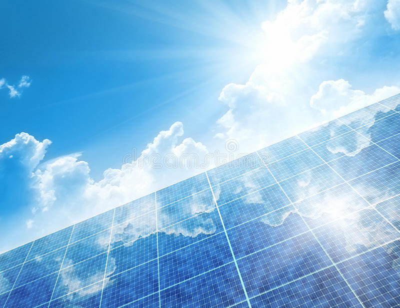 Solar panels. A photography of a solar panels background stock photo
