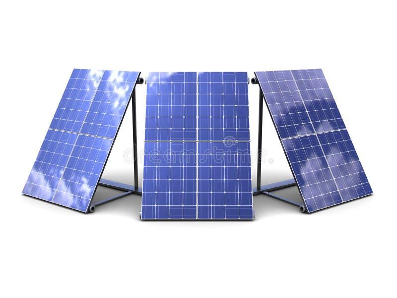 Download Solar panels stock illustration. Image of render, station - 14224113
