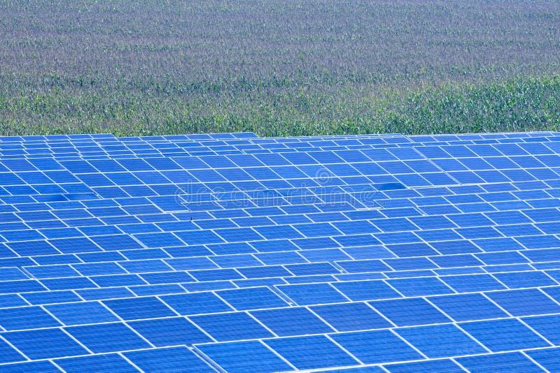 Solar panels. Czech republic, bohemia - sunlight collectors at solar panel station stock photography