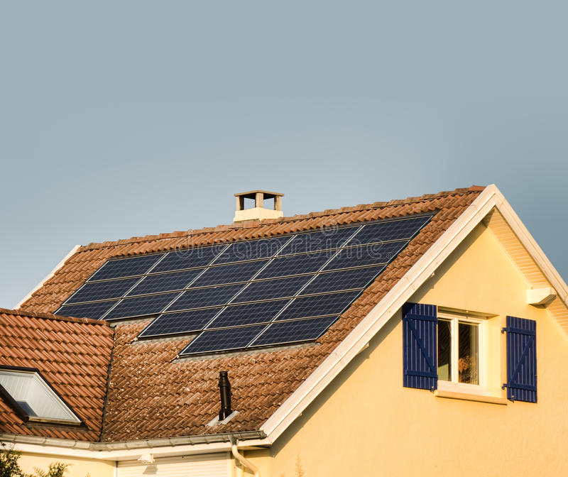 Download Solar panels stock photo. Image of housing, clean, roof - 17123972