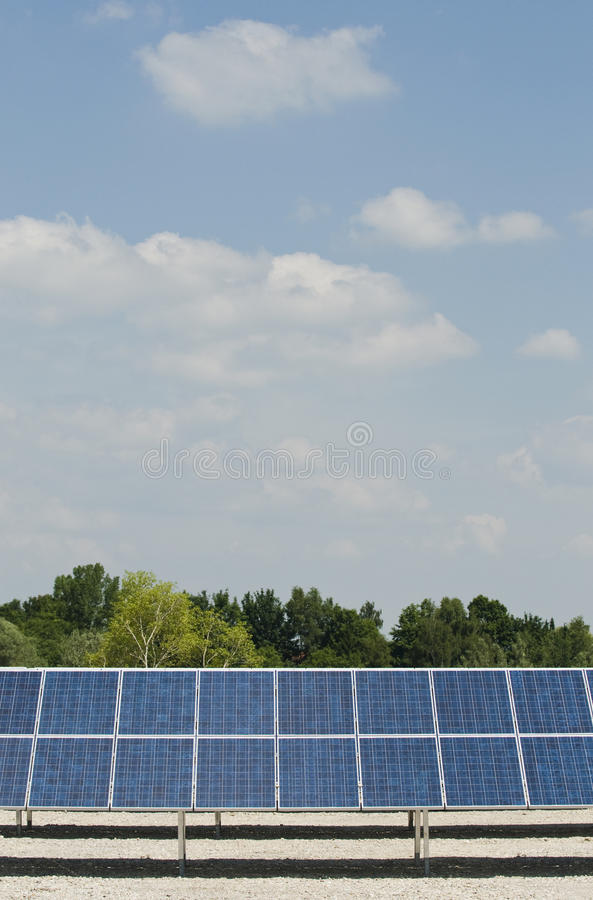 Solar panels stock images
