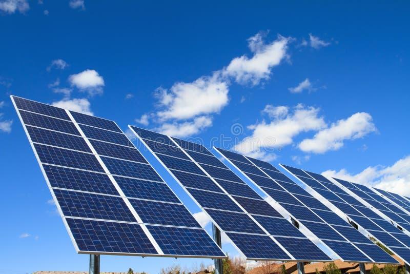 Solar panels. Over blue sky stock photo