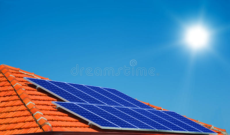 Download Solar panels stock image. Image of home, light, collector - 20118985