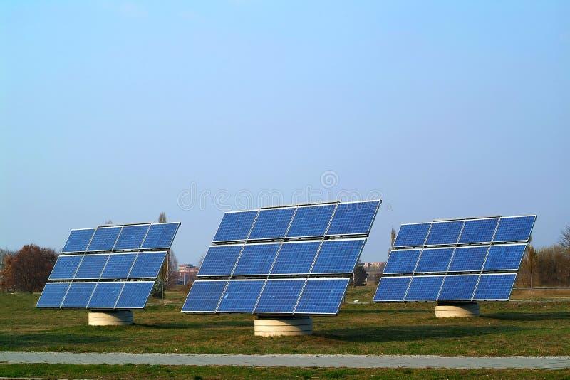 Download Solar Panels stock image. Image of three, power, sunshine - 2334295